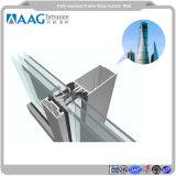 L'anodisation et unifié de vitrage verre enduit de poudre profilé aluminium