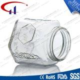 260ml de super Kruik van de Honing van het Glas van de Vuursteen Transparante (CHJ8009)