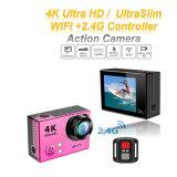 câmera subaquática do esporte do controlador 30m WiFi Dving DV de 4k Ultra-HD mini Kamera 2.4G