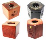 Caixas de tecido de madeira personalizadas para hotals (TB-001)
