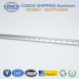 Profil d'extrusion d'aluminium anodisé brossé pour LED
