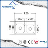 Boven de TegenGootsteen van de Keuken van Moduled van het Roestvrij staal (acs-7239)