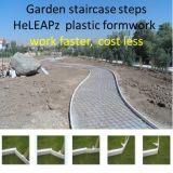 Travail en plastique de coffrage de trottoir de jardin plus rapidement, coût moins, poids léger, coffrage réutilisable de trottoir