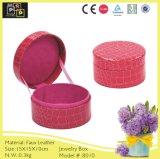 Rosafarbene Farben-nach Maß runder kleiner Schmucksache-Kasten (8010)