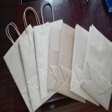 Packpapier-Lebensmittelgeschäft-Beutel Brown-Mit Butterbrotpapier