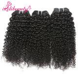 カンボジアの深い巻き毛の100%の人間のバージンの最もよい品質の毛