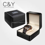Caixa de relógio de couro preta da alta qualidade única