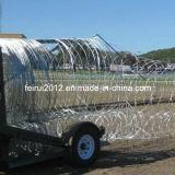 Desmontable y barreras de alambre de navaja plegable