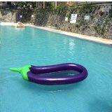 Lounger inflável do colchão do ar da beringela do PVC ou do TPU com o flutuador da associação do engranzamento