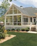 Большинств красивейшие европейские Sunrooms типа & стеклянные дома, польностью разделенная дом сада конструкции решетки деревянная алюминиевая