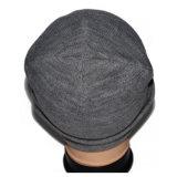 Chapeau gris fait sur commande de Beanie d'ouatine de chapeau de l'hiver pour les hommes