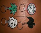 Fördernde Geschenke kundenspezifischer GummiKeychain Belüftung-Schlüsselketten-Plastik Keychain