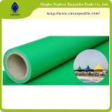 Folhas de lona impermeável de PVC revestido de PVC Lona de cobertura de telhados de toldo