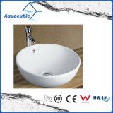 Dispersore di lavaggio del Governo del bacino di ceramica di arte e della mano superiore di vanità (ACB8002)