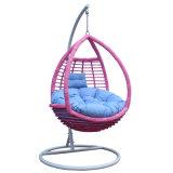 Balanço ao ar livre da fábrica cromática, mobília do Rattan, cadeira de suspensão do ovo interno (D008)