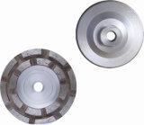 Двойное колесо чашки Turbo рядка с алюминиевым основанием