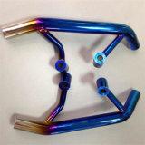 La motocicleta parte la máquina azul de la vacuometalización del arco iris del oro del tubo de gas