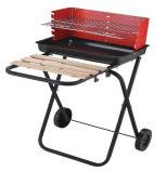 Gril portatif de charbon de bois de BBQ avec des roues