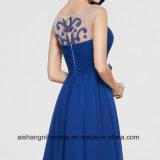 Вечерние платья группа долго платья рельефная A-Line цветы шифона платье