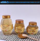 380/730ml effacent le miel en verre de courbe, bouteille de conserves au vinaigre avec le chapeau de joint