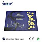 Preço de fábrica cartão video do LCD da tela de 6 polegadas para o convite do casamento