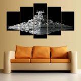A arte Home HD moderno da parede dos retratos da lona da decoração imprimiu 5 de Star Wars do filme da pintura da sala de visitas da estrela do contratorpedeiro partes do frame do poster