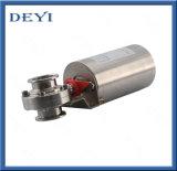 Válvula de mariposa neumática automática sanitaria del acero inoxidable