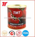Salsa de tomate conservada de la salsa de tomate de la goma de tomate