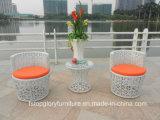 PE Rattan armazón de aluminio muebles mesa de ocio al aire libre