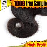 Cheveux humains dans la prolonge brésilienne du cheveu 100%Unprocessed