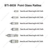 Choix de taille différente de Bti-8839 Point Hochet en verre avec des matériaux en verre