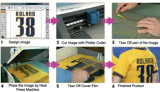 Le transfert de chaleur réfléchissant élastique coloré vinyle/Flex