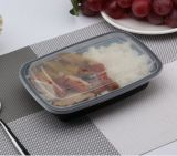 Nuova casella di pranzo semplice a gettare di plastica di microonda del contenitore di alimento dello scompartimento (WL-F1000)