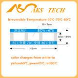 Escrituras de la etiqueta cambiantes del color de alta temperatura irreversible