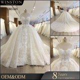 2018 Alibaba vestido de novia vestido de novia vestidos de novia boda Champagne con mangas de la tapa