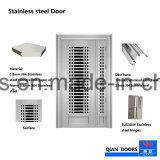 Un estilo moderno de la puerta de acero inoxidable puerta de entrada simple
