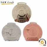 Отсутствие качества Hight медали металла MOQ тесемки медали изготовленный на заказ воинской