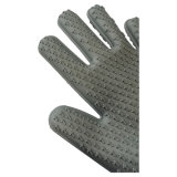 Cuisine de modèle de 5 doigts faisant cuire grillant les gants anti-caloriques de silicones