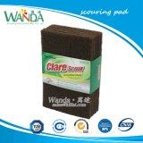 Patin de nettoyage abrasifs de couleur marron tampons à récurer pour le nettoyage de cuisine