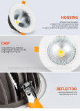 Alluminio 10With15With30With60W LED Downlight del nuovo modello di Apporved del Ce di TUV