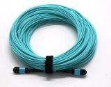 Couleur à plusieurs modes de fonctionnement d'Aqua de cordon de cavalier de fibre d'Om3 MPO