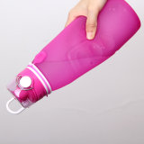 BPA liberano la grande bottiglia di acqua portatile di corsa del silicone di compressione del volume