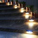 Capteur infrarouge 8 LED d'éclairage LED de contrôle de l'énergie solaire sourire lampe de feu de paroi extérieure de jardin brun et noir