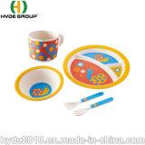 Massenkauf China-Cup-Löffel-Platten-Gabel-Filterglocke-reine Natur-vom Bambusfaser-Essgeschirr-Set