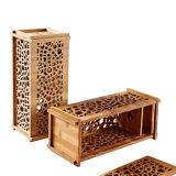 Ecoの友好的で装飾的な切り分けられた長方形によって炭化されるタケワインボックス