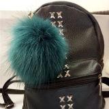 2017販売のための新しく多彩なのどの毛皮の球Keychain