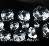 Achthoekige Parel 14mm van het Glas van het kristal voor de Decoratie van de Kroonluchter