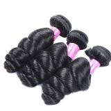 低下の出荷のもつれの自由で新しく緩い波の未加工インドの毛の束、バージンのRemyの毛の拡張Jfy-002
