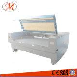 De geweven Scherpe Machine van het Etiket met het Plaatsen van Camera (JM-1810t-CCD)