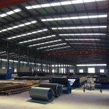 los paneles de las lanas de la fibra de 50m m prefabricaron el almacén de la estructura de acero